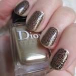 Кракелюр от Dior (001 Golden Jungle Crocodile Leather Effect Nails)