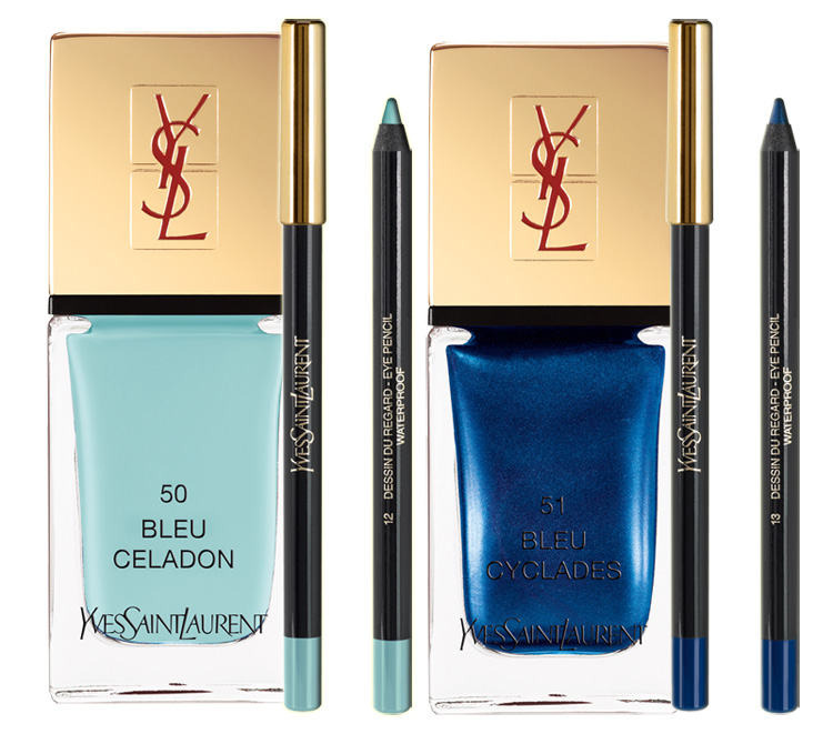 YSL-Bleus-Lumiere-Makeup-Collection-for-Summer-2014-blue-eyes-and-nails