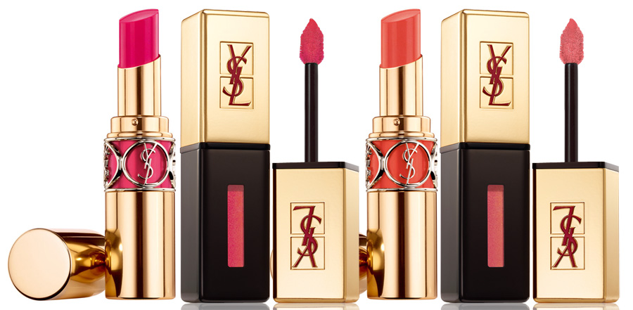 YSL-Bleus-Lumiere-Makeup-Collection-for-Summer-2014-pink-and-coral-lips