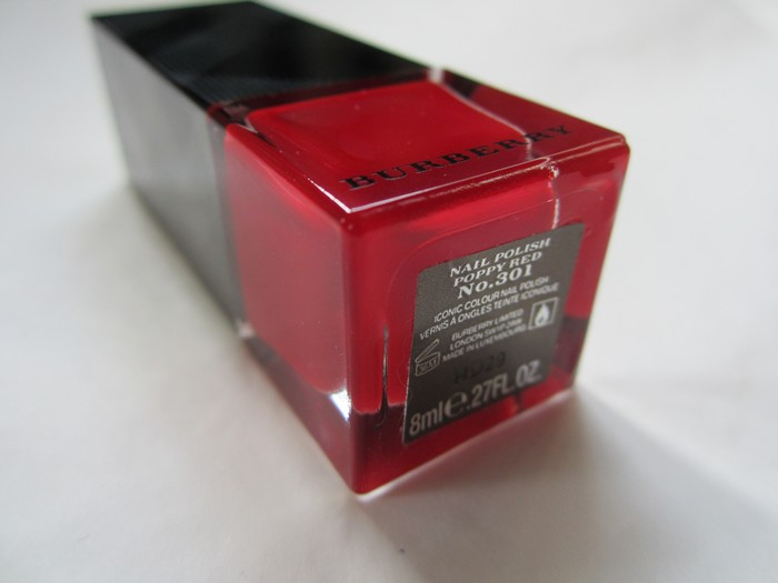 Burberry Nail Polish Poppy Red #301 (8)