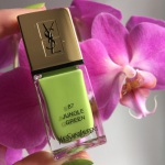 Лак YSL #87 Jungle Green: обзор свотчи
